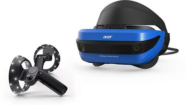 Acer Windows Mixed Reality Headset with Motion Controllers (from Microsoft.com).