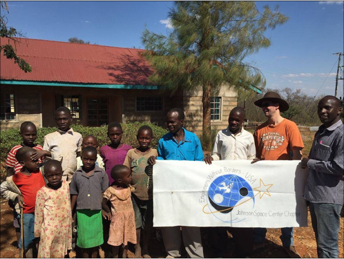 EWB-JSC during their first assessment trip to Kenya in September 2015 with some of the young boys who live at the Rescue Center.