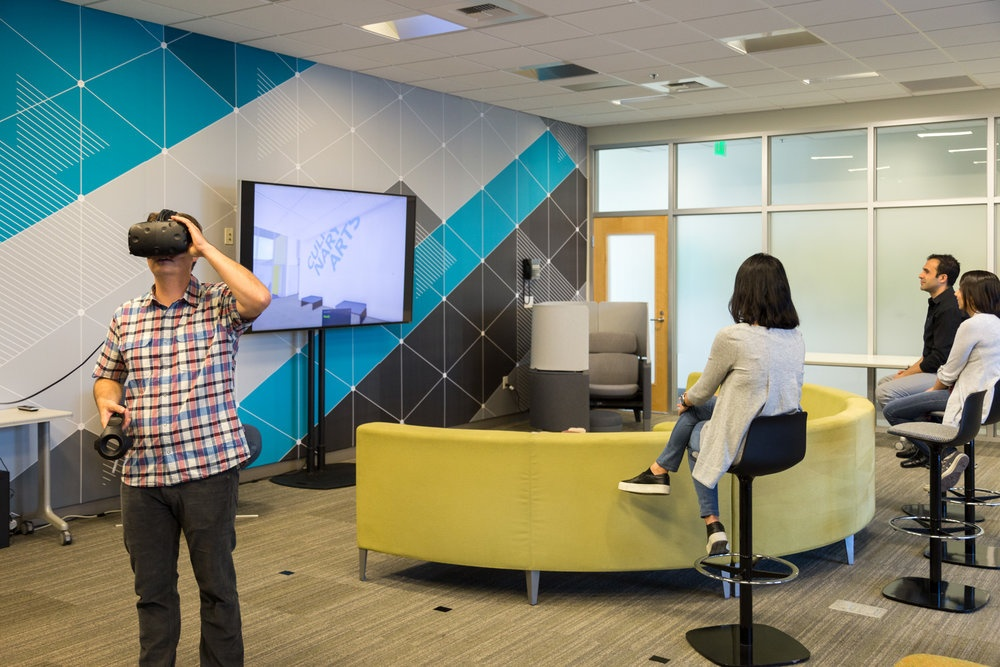Immersive Review at HMC Architects office with IrisVR Prospect.  Image Courtesy of HMC Architects.